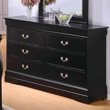 6 Drawer Dresser Black by Louis Philippe Deep Black Wood Dresser Steal A Sofa Furniture
