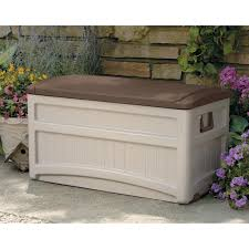 Suncast Patio Storage Bench Walmart by Suncast Premium 127 Gallon Deck Box With Seat And Storage Tray