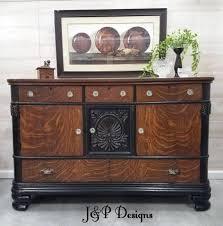 Vintage Tiger Oak Dresser by Brown Mahogany General Finishes Design Center