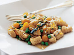 Pumpkin Gnocchi Recipe With Sage Butter by Gnocchi With Sweet Peas Tomatoes And Sage Brown Butter Recipe