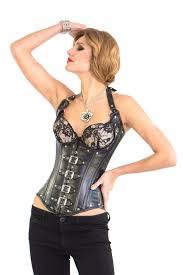 shane black leather corset cupless corset w straps glamorous