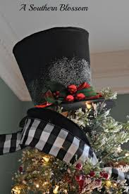 Frosty Snowman Christmas Tree by How To Make A Snowman Christmas Tree Topper