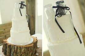 Elegant Rustic Wedding Classic Ivory Cake With Cute Topper