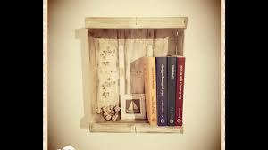 wooden fruit box wall book shelves diy decoupage vintage shabby