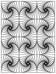 Coloring Picture Base On Strange Shapes That Seems To Move From The Gallery Op Art