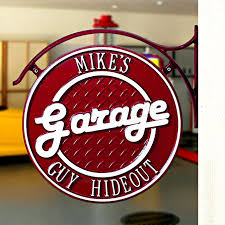 Sided Personalized Garage Hanging Wall Plaque