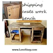 Shipping Crate Work Bench By Love Sissy
