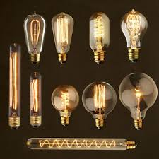 all styles edison bulbs dimmable filament incandescent e27