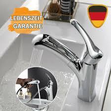 wasserhahn bad waschbecken armatur mit herausziehbarer