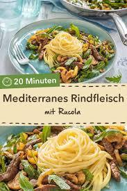 mediterranes rindfleisch mit rucola