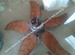 5 Palm Leaf Ceiling Fan Blades by Harbor Breeze At Lowes Ceiling Fans And Light Kits Fan With Palm