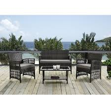 Ebay Patio Furniture Cushions by Amazon Com Patio Furniture Dining Set 4 Pcs Garden Outdoor