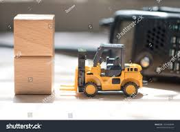 100 Toy Forklift Truck Wooden Block Radio Stock Photo Edit Now