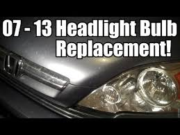 2007 2014 honda cr v headlight bulb replacement car