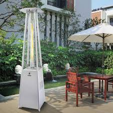 Fire Sense Deluxe Patio Heater 11201 by Buy Lifestyle Tahiti Stainless Steel Flame Gas Patio Heater 13kw