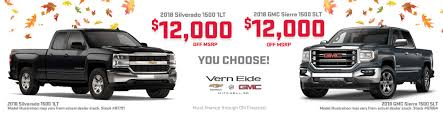 Vern Eide GM | Mitchell, SD | New & Used GM Cars & Trucks! New Chevrolet Silverado 1500 Lease And Finance Offers Richmond Ky 2019 Lt Trail Boss 4wd Crew Cab 147 3 Mustsee Special Edition Models Depaula Use Car Specials Jimmie Johnson Kearny Mesa In San Jose Capitol Time To Buy Discounts On Ford F150 Ram Chevy Dealer Near Me Houston Tx Autonation Gulf Freeway Prizes Amazing Cars At Your Local Dealership Moss Bros Is A Moreno Valley Dealer New Deals Price Thousand Oaksca The Best On Days Of Year To Buy A Or Truck