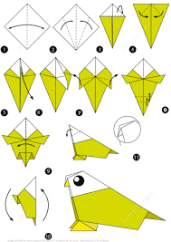 Click To See Printable Version Of How Make An Origami Bird Step By Instructions