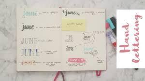 HAND LETTERING IDEAS Bullet Journal