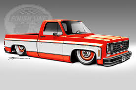 Radical Renderings: 1968 Ford F-100, 1975 Chevy C10