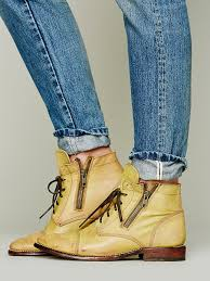 bed stu double rafter boot in yellow lyst