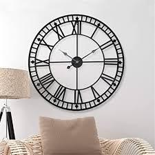 wanduhr wall clocks wanduhren 80cm große metall dekorative römische ziffern 3d skelett stille uhr für küche schlafzimmer garten wohnzimmer
