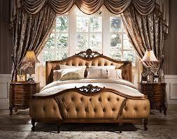 amerikanischen luxus leder massivholz könig größe schlafzimmer möbel deri ı ahşap kral yatak odası mobilya gh01