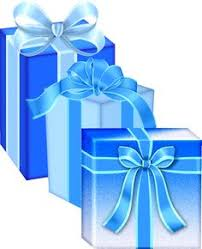 Blue Birthday Present Clip Art 23