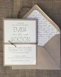 Rustic Modern Chic Wedding Invitation Simple Elegant By ALukeDesigns On Etsy