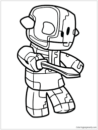 Stampy Coloring Pages Minecraft Free Printable Orango