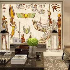 großhandel 3d europäischen stil pharao große wandbilder vintage ägyptische lounge bar tv sofa hintergrund wohnzimmer tapete tapete arkadi 26 19