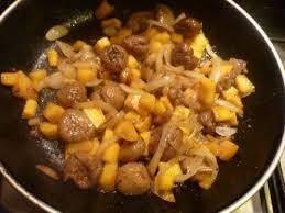 cuisine chataigne recette poêlée châtaignes potiron jus de pomme cuisinez poêlée