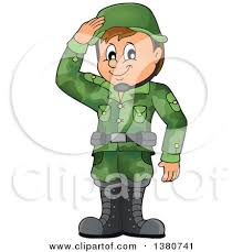 Clipart Of A Happy Blond White Female Soldier Holding Walkie