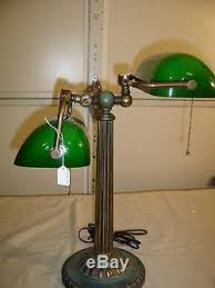 Antique Bankers Lamp Green by Vintage Double Bankers Lamp With Cased Green Shades 9249