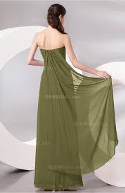 olive green prom dress plain sleeveless zip up chiffon floor