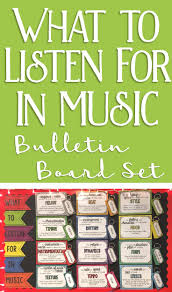 I Love This Music Bulletin Board Idea Put Term Cards On A Ring Clip Next