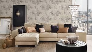 landhaus tapete again michalsky living modern landhausstil palmenblätter grau beige 052