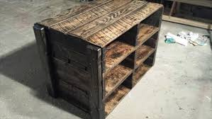 Recycled Pallet Storage Unit And Shoes Rack
