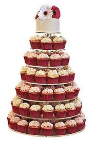 JUSALPHAR 7 Tier Circle Acrylic Cupcake Stand Cake Wedding Tower