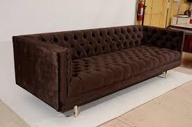 modern tufted velvet tuxedo sofa for sale at 1stdibs