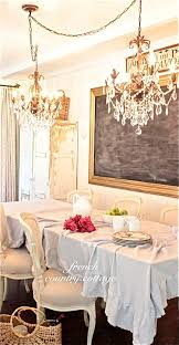 Chandelier Over Bathroom Vanity by Making A Chalkboard French Country Cottage