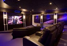 modern home theater with interior wallpaper wall sconce zillow