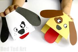 How To Make A Paper Dog Hand Puppet Step By Instructions
