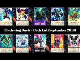 Yugioh Deck List Blackwing by Blackwing Duels Deck List September 2016 Yugioh Ygo Amino