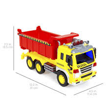 1/16 Scale Friction Powered Toy Dump Truck – Best Choice Products