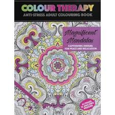 Colour Therapy Anti Stress Coloring Book Mandala Relax