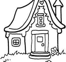 House Coloring Sheet Houses Pages Free