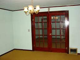 French Doors Between The Living Room And Dining
