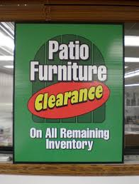 Patio Furniture Clearance Sign