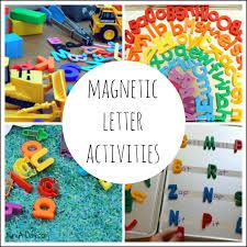 Preschool Alphabet Activities Using Magnetic Letters