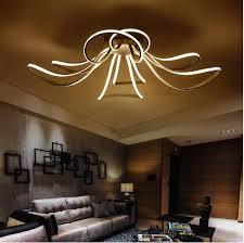 moderne led acryl design deckenleuchten dimmbar farbe schlafzimmer wohnzimmer licht deckenleuchte led 110 220 v freies lieferung